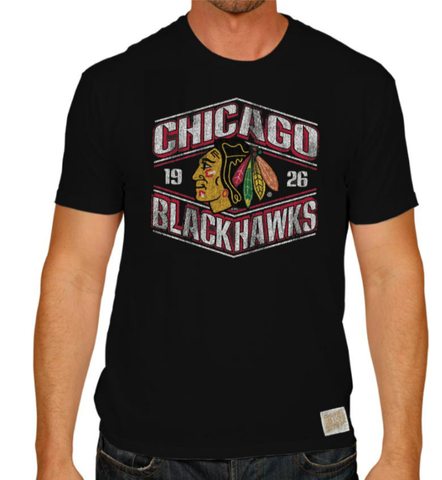 Men's Chicago Blackhawks Retro Brand Black Worlds Best Tee