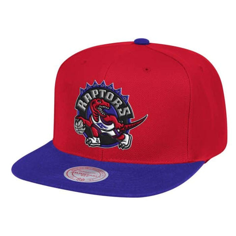 Mens NBA Toronto Raptors Red/Purple Wool 2 Tone Snapback Hat By Mitchell And Ness