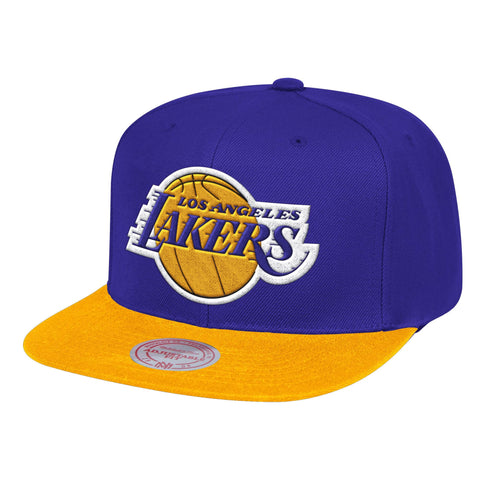 Mens NBA Los Angeles Lakers Purple/Gold Wool 2 Tone Snapback Hat By Mitchell And Ness