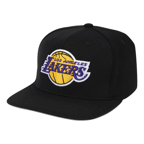 NBA Los Angeles Lakers Black Downtime Classic Redline Snapback Snapback Hat By Mitchell And Ness