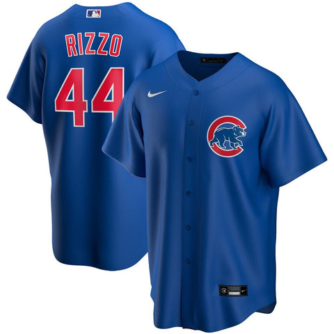 NIKE Men's Anthony Rizzo Chicago Cubs Blue Alternate Replica Jersey