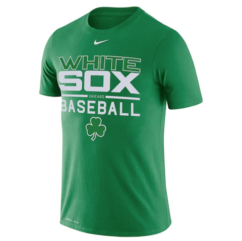 Men's Nike Chicago White Sox St. Patrick's Day Green Practice Tee