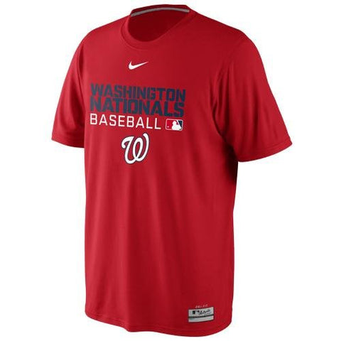 NIKE Washington Nationals Legend Issue Performance T-Shirt - Red