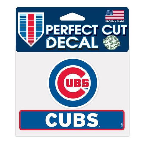 MLB Chicago Cubs  Logo And Name Perfect Cut Decal
