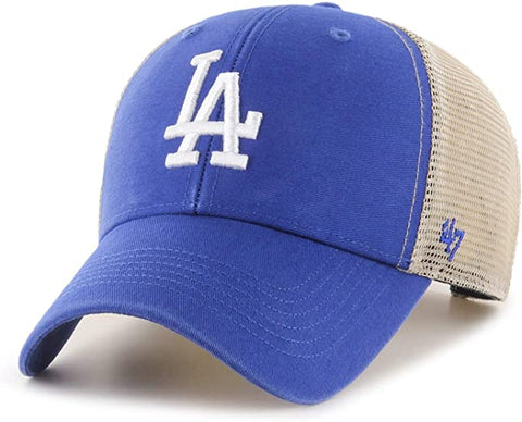 '47 Brand Los Angeles Dodgers Royal/Natural Flagship Wash Adjustable Mesh Back Hat