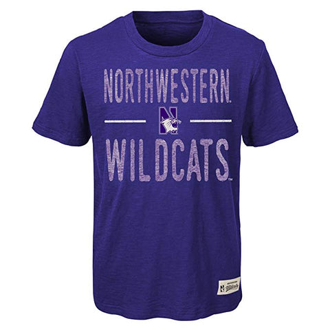 Northwestern Wildcats Gen2 Youth Purple Scratched Out Shirt