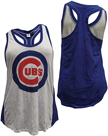 Women's Chicago Cubs Double Play Mesh Tank Top