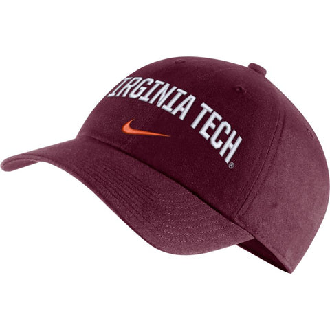 Virginia Tech Hokies Nike Heritage 86 Arch Adjustable Performance Hat