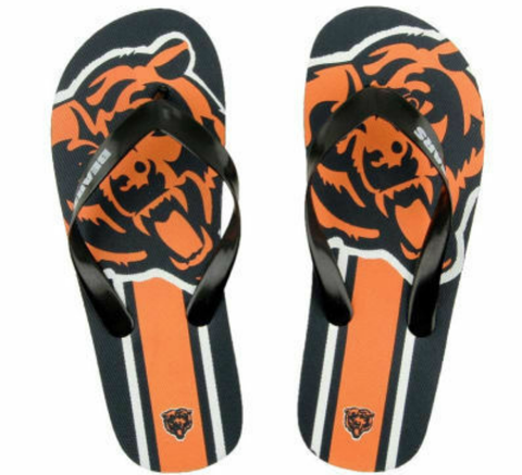 Chicago Bears NFL Unisex Big Logo Flip Flops