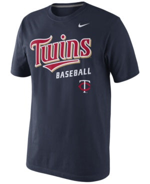 Men's Nike Navy Minnesota Twins Home Practice Team Logo T-Shirt