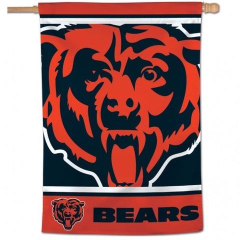 Chicago Bears Mega Logo Vertical 28X40 Flag By Wincraft