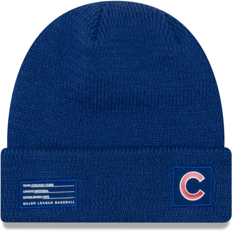 Youth Chicago Cubs New Era Royal On-Field Sport Cuffed Knit Hat