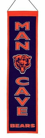 Chicago Bears Man Cave Banner By Winning Streak