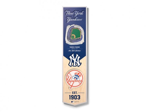 New York Yankees 8'' x 32'' 3D StadiumView Banner