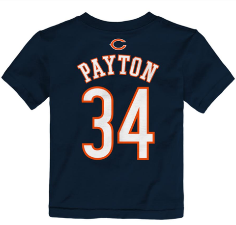 Toddler Walter Payton Chicago Bears Mainliner Player Name and Number Shirt By Outerstuff