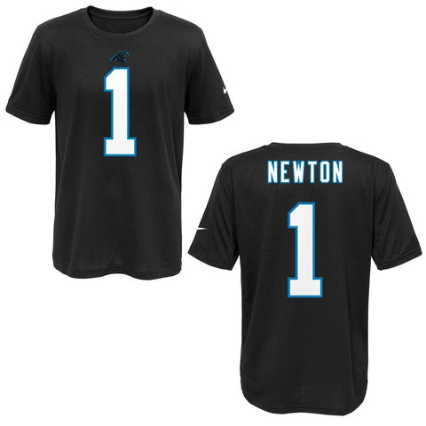 NIKE Carolina Panthers Cam Newton Black Youth Player Pride Tee 2 T-Shirt