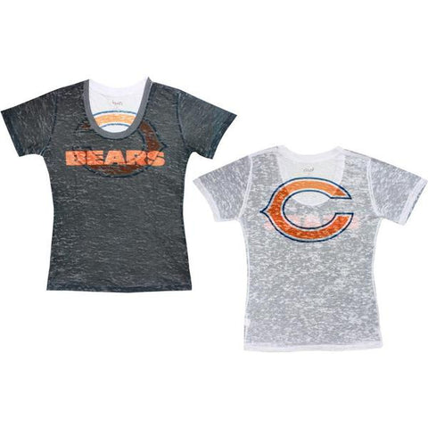 Womens Chicago Bears Sublimated Burnout V Neck Tee