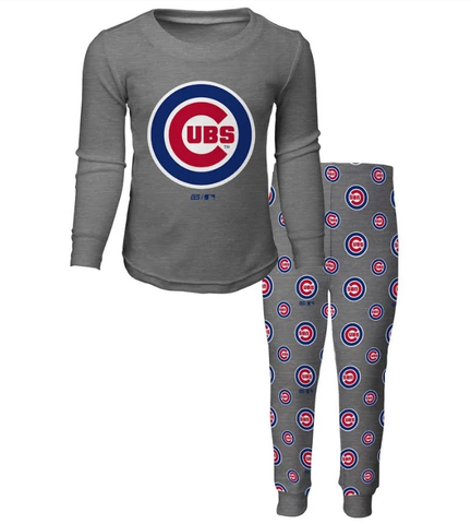 Youth Chicago Cubs 2-Piece Tee and Pant Sleep Set By Outerstuff