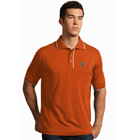 Men's MLB San Francisco Giants Orange Elite Polo Shirt By Antigua