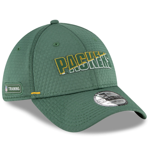 Men's Green Bay Packers New Era Green 2020 NFL Summer Sideline Official 39THIRTY Flex Hat
