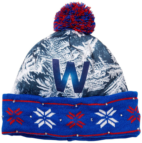 Forever Collectibles MLB Chicago Cubs World Series W Light Up Knit Hat