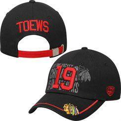 Chicago Blackhawks Jonathan Toews NHL Port Adjustable Black Hat