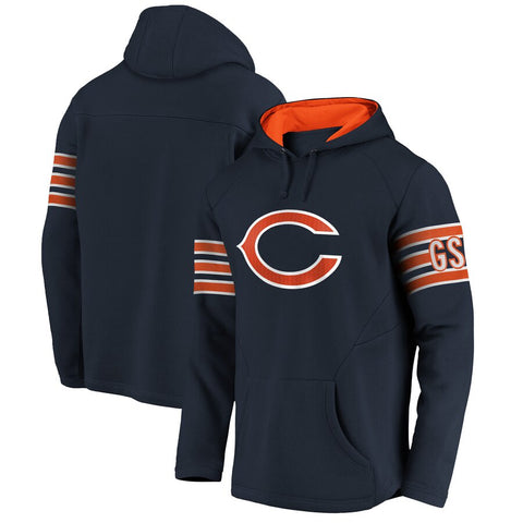 Men's Chicago Bears NFL Pro Line by Fanatics Branded Navy Franchise Red Zone Pullover Hoodie