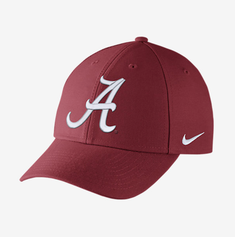 Alabama Crimson Tide Nike Dri-Fit Crimson Wool Classic Adjustable Hat