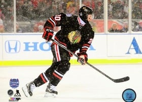 Brandon Saad Chicago Blackhawks 2014 NHL Stadium Series Action Photo (Size: 8X10)