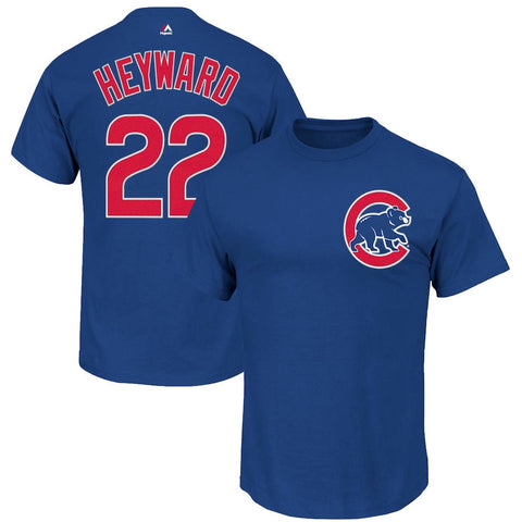 Youth Chicago Cubs Jason Heyward Majestic Royal Official Player Name & Number T-Shirt