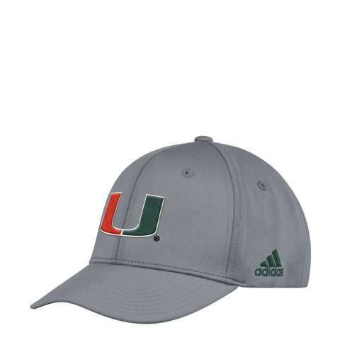 Miami Hurricanes Official Sideline Adidas Adjustable Climalite Hat