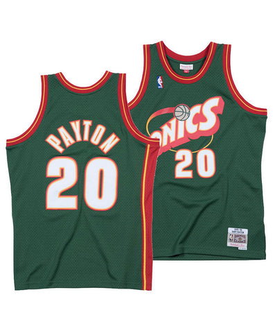 Youth Seattle SuperSonics Gary Payton Mitchell & Ness Green 1995-96 Hardwood Classics Swingman Jersey