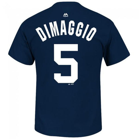 New York Yankees Joe Dimaggio Cooperstown Player Name & Number T-Shirt