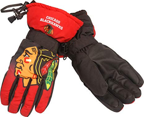 Chicago Blackhawks Gradient Big Logo Insulated Gloves