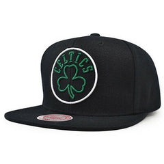 Boston Celtics NBA Mitchell & Ness Neon Lights Black Snapback Hat