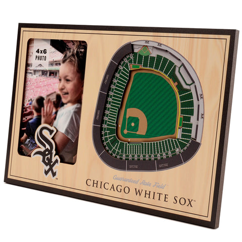 Chicago White Sox 3D StadiumViews Picture Frame - Brown