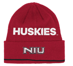 adidas Northern Illinois Huskies NCAA Red Sideline Coach Cuffed Knit Hat