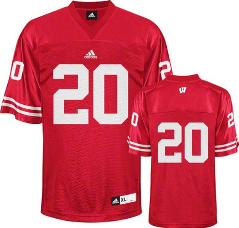 Wisconsin Badgers Football Jersey adidas #20 Red Replica Football Jersey