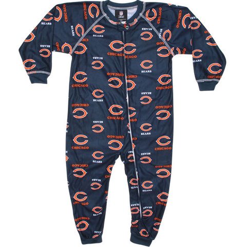 Chicago Bears Infant Raglan Zip Up Coverall By Outerstuff