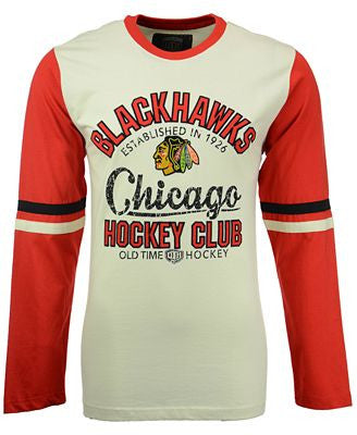 Men's Chicago Blackhawks Chisel Crewneck L/S T-Shirt