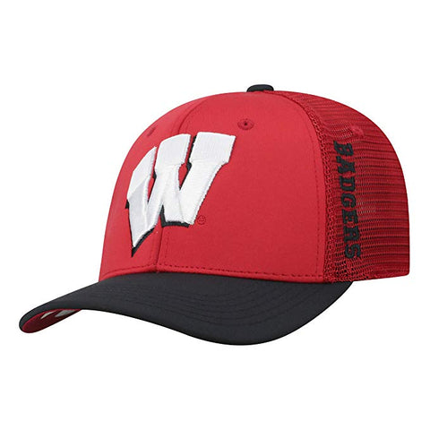 Mens Wisconsin Badgers Chatter One Fit Flex Fit Hat By Top Of The World
