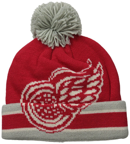 Detroit Red Wings CCM Vintage Cuffed Pom Knit