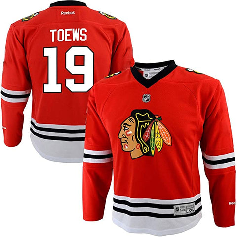 Kids Chicago Blackhawks Jonathan Toews (4-7) Red Replica Player Jersey