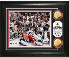 Chicago Blackhawks NHL 2013 Stanley Cup Champions Celebration Silver Coin Photo Mint