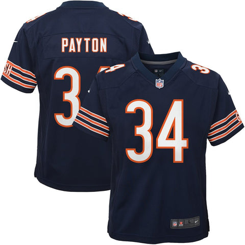 Youth Chicago Bears Walter Payton Nike Navy Game Jersey