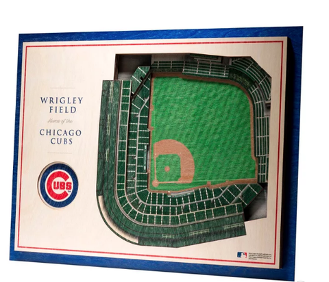 Chicago Cubs 17'' x 13'' 5-Layer StadiumViews 3D Wall Art