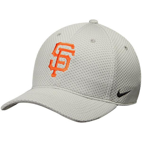 Mens San Francisco Giants Nike Gray Mesh Logo Performance Adjustable Hat