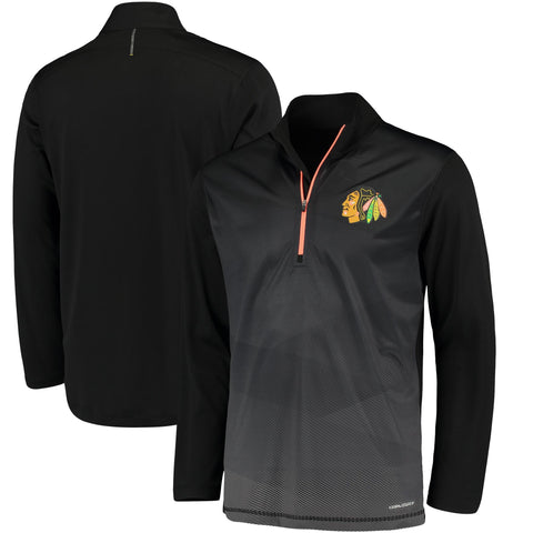 Men's Chicago Blackhawks Crash the Net Cool Base Half-Zip Pullover Jacket