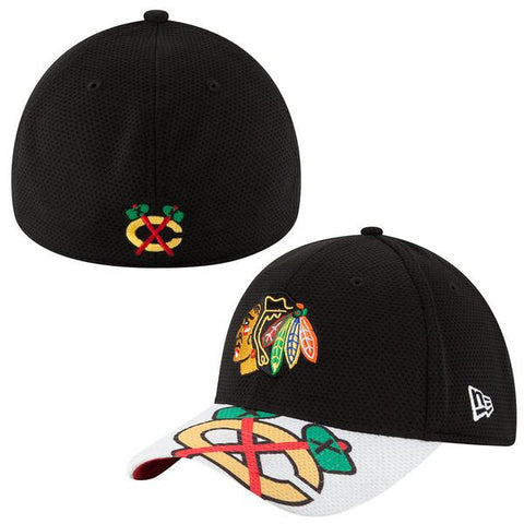 Child/Youth NHL Chicago Blackhawks Jr. Logo Duel Flex Fit 39Thirty Hat
