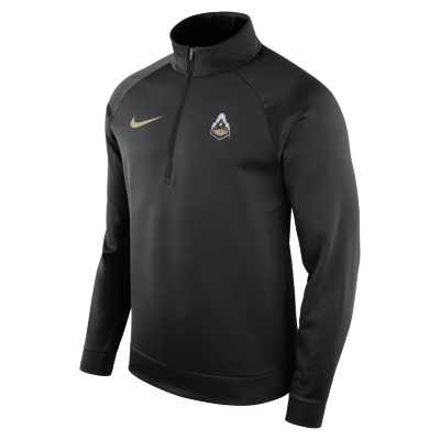 Nike Mens Purdue Boilermakers Long Sleeve Therma 1/2 Zip Top